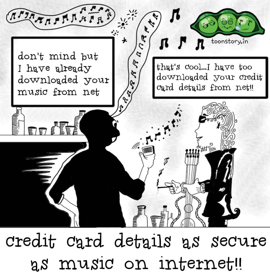 Privacy of music and credit cards